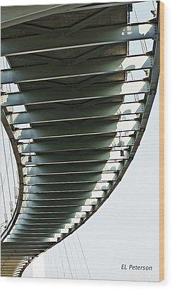 Wood Print featuring the photograph Bob Kerrey Pedestrian Bridge by Edward Peterson