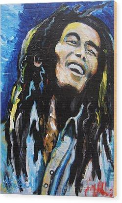 Bob Marley  Wood Print by Jon Baldwin  Art