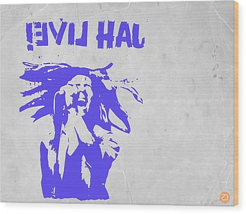 Bob Marley Purple 2 Wood Print by Naxart Studio