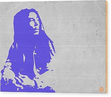 Bob Marley Purple Wood Print by Naxart Studio