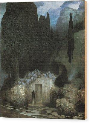 Bocklin's Tomb Wood Print by Ferdinand Keller