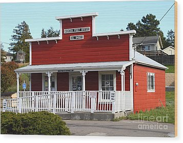 Bodega Post Office . Bodega Bay . Town Of Bodega . California . 7d12455 Wood Print by Wingsdomain Art and Photography