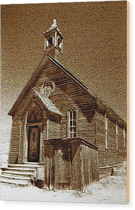 Bodie Church Wood Print by David Lee Thompson