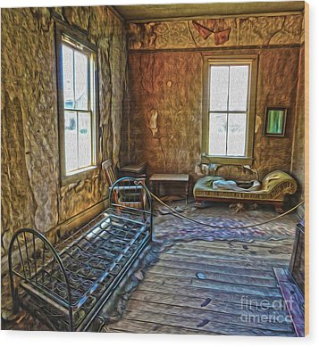 Bodie Ghost Town - Old House 03 Wood Print by Gregory Dyer
