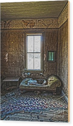 Bodie Ghost Town - Old House 04 Wood Print by Gregory Dyer