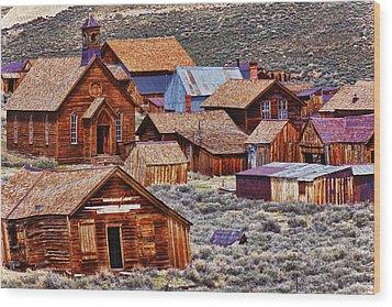 Bodie Ghost Town California Wood Print by Garry Gay
