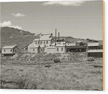 Bodie Ghost Town California Gold Mine Wood Print by Philip Tolok