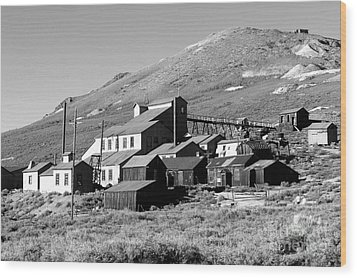 Wood Print featuring the photograph Bodie Ghost Town by Jim McCain