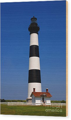 Bodie Island Lighthouse Outer Banks Nc Wood Print by Susanne Van Hulst
