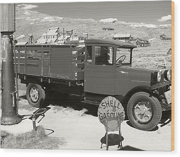 Bodie Shell Gasoline 2 Wood Print by Philip Tolok