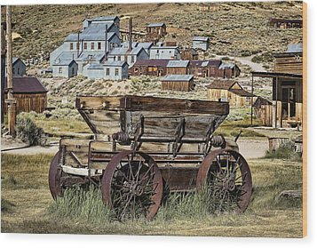 Bodie Wagon Wood Print by Kelley King