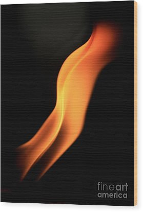 Body Of Fire Wood Print by Arie Arik Chen
