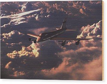 Boeing 747 Wood Print by Mike Miller