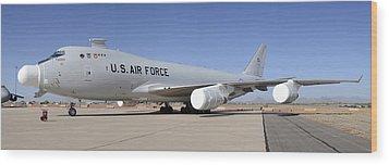 Boeing Yal-1a Airborne Laser Testbed Davis-monthan Afb April 15 2012 Wood Print by Brian Lockett