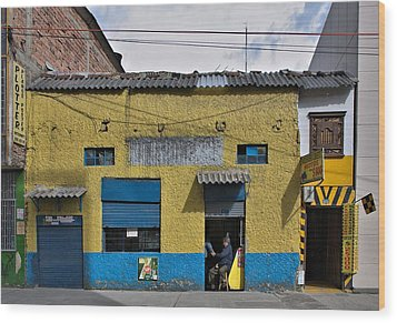 Wood Print featuring the photograph Bogota Shop by Steven Richman