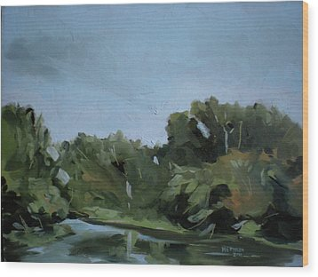 Boise River In Eagle Wood Print