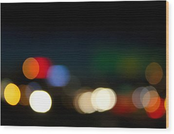 Bokeh Light Wood Print