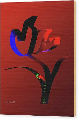 Wood Print featuring the digital art Bold And Beautiful by Asok Mukhopadhyay