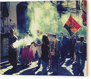 Bolivia Celebrations   Wood Print by Jade Sayers