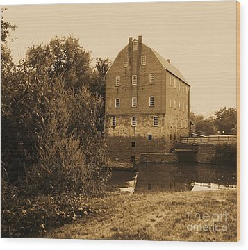 Bollinger Mill Wood Print by Julie Clements