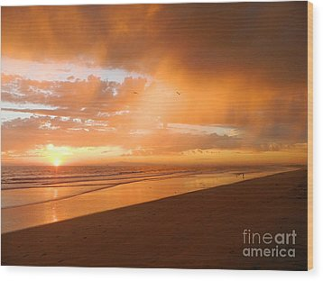 Wood Print featuring the photograph Bolsa Chica Sunset by Everette McMahan jr