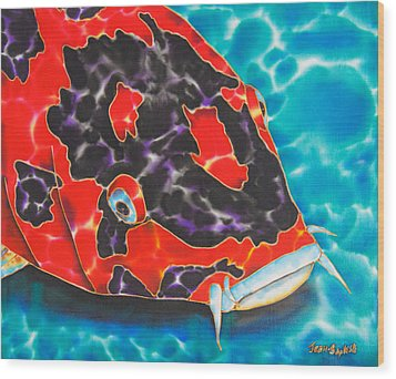 Bolt Koi Wood Print by Daniel Jean-Baptiste