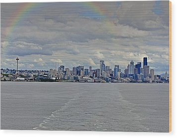 Bon Voyage Seattle Wood Print