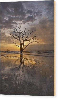 Boneyard Sunrise Wood Print by Joseph Rossbach
