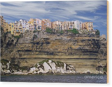 Bonifacio From The Sea Wood Print