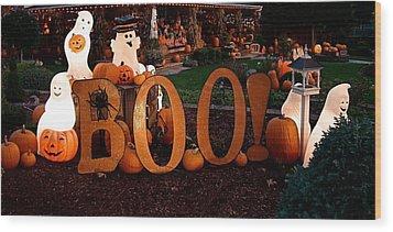 BOO Wood Print by Nick Kloepping