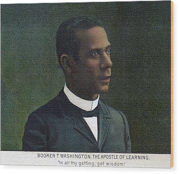 Booker T. Washington, Detail Wood Print by Everett