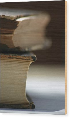 Wood Print featuring the photograph Books by Kelly Hazel