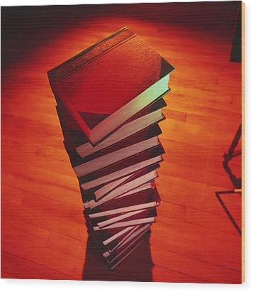 Books Wood Print by Tek Image