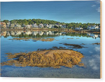 Boothbay Harbor Wood Print by Ron St Jean