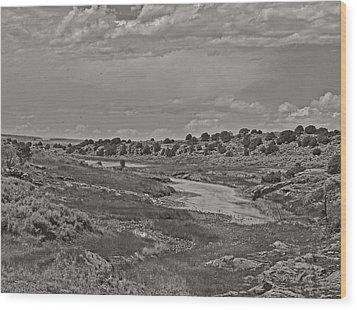 Borderland Tanks Wood Print by Joshua House