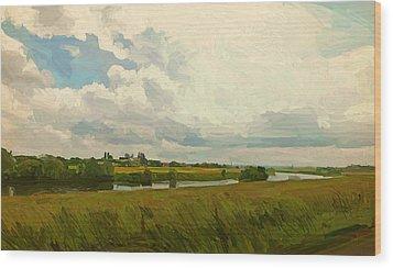 Borgharen Netherlands Wood Print by Nop Briex