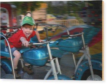 Born To Ride Wood Print by Kelly Hazel