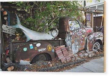 B.o.'s Fish Wagon - Key West Florida Wood Print by Bill Cannon