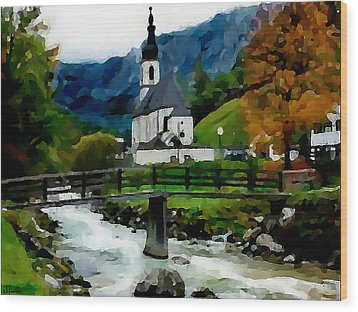 Bosnian Country Church Wood Print by Jann Paxton