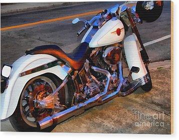 Boss Hog . Harley-davidson .  7d12757 Wood Print by Wingsdomain Art and Photography