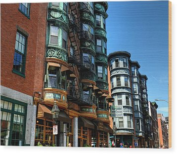 Boston 017 Wood Print by Lance Vaughn