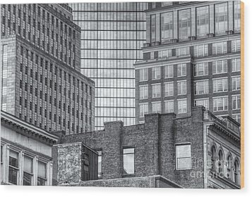 Boston Building Facades II Wood Print by Clarence Holmes
