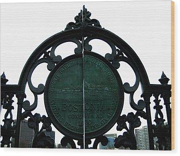 Boston Common Wood Print