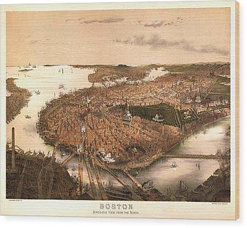 Boston Massachusetts 1877 Wood Print by Donna Leach