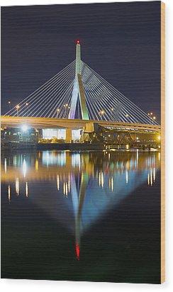 Boston Reflections Wood Print by Shane Psaltis