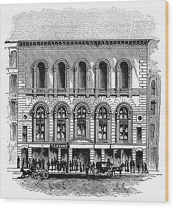 Boston: Tremont Temple Wood Print by Granger