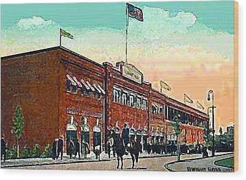Boston's Fenway Park In 1914 Wood Print by Dwight Goss