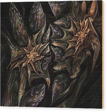 Botanical Fantasy 123011 Wood Print by David Lane