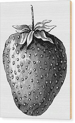 Botany: Strawberry Wood Print by Granger
