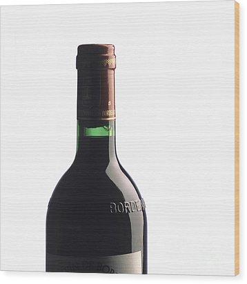 Bottle Of French Wine Wood Print by Bernard Jaubert